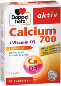 DOPPELHERZ Calcium 700+Vitamin D3 Tabletten