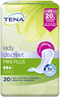 TENA LADY Discreet Einlagen mini plus