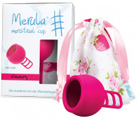 MERULA Menstrual Cup strawberry pink